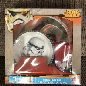 Disney STAR WARS 3 Piece PLATE BOWL CUP MEAL Set